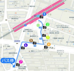 バス停までの地図