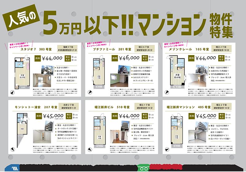 【RENT】 人気の賃料5万円以下!浦安賃貸マンション物件特集