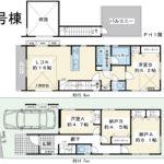 浦安市富士見3丁目新築戸建B号棟。2階建屋上バルコニー付き住宅。2LDK+2Sの間取り表記ですが、4LDKとしてご利用いただける間取りです。リビングには開放的な吹抜けがあります。(間取)