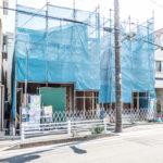 2017年9月24日撮影。浦安市富士見3丁目新築戸建現場。(外観)