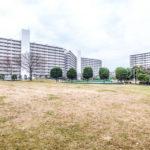 広い中庭があるマンション。日本らしい四季を感じられます。