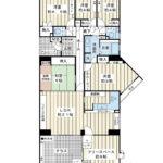 広々137平米超の5LDK・角部屋。海風の街に2部屋しかない間取りタイプです。(間取)