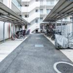 駐輪場、バイク置場。