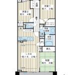 南東向き、2階住戸。78平米超の3LDK。リビング床暖房など設備充実。(間取)
