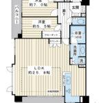 82.04平米の大型2LDK。南東南西角部屋。3LDKに間取り変更可能(別途費用が必要)。(間取)