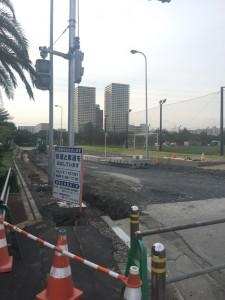 浦安市明海2丁目付近交差点設置工事現場