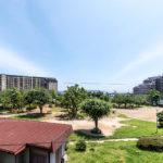 バルコニー前面は行徳南部公園のため、陽当たり眺望良好です。