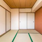 和室6帖には押入れ収納が付いています。(寝室)