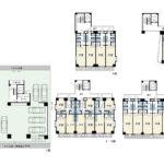 1Rx2戸、1Kx10戸、2LDKx6戸、駐車場8台。