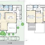 2003年11月築。積水ハウス施工。全室6帖以上の余裕ある3LDK。カースペース2台。(間取)