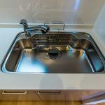 キッチンシンク。浄水器一体型水栓が付いています。(キッチン)
