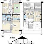 9階、10階メゾネット住宅。139平米超の4LDK。上階にお部屋はありません。(間取)