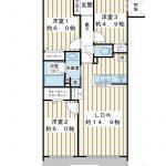 南西向き5階。67.62平米の3LDK。空室物件。実際にお部屋を見てみませんか。(間取)