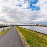 旧江戸川沿いの堤防まで徒歩8分。お散歩コースにいかがでしょうか。(周辺)