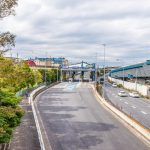 首都高速湾岸線舞浜入口まで2250m。(周辺)