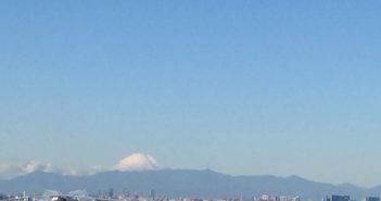 プラウド新浦安から見える富士山