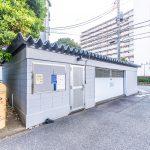京成サンコーポ浦安のゴミ置場。(周辺)