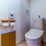 洗浄便座付きトイレ。(内装)