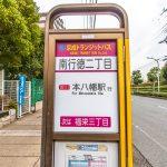本八幡駅行きバス停まで徒歩2分。(周辺)