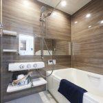 浴室暖房換気乾燥機付きユニットバス。水栓は節水タイプ。追焚き付きの浴室です。(風呂)