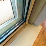 窓は断熱に優れたペアガラスサッシです。(内装)