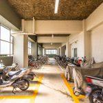 駐輪場、バイク置場には屋根が付いています。