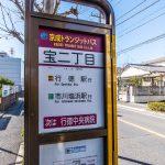 市川塩浜駅行きバス停まで徒歩2分。(周辺)