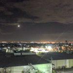 バルコニーから見た夜景。