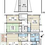 109平米超の3SLDK。戸建て感覚でお住まいいただける3階建てテラスハウスです。(間取)