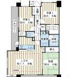 80.08平米の3LDK。全室6帖以上の南西北西角住戸。階下は駐輪場のため、音の心配が少ないお部屋。(間取)