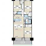 南西向き75.6平米の3LDK。専用庭、テラス付き1階住戸。(間取)