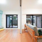 洋室3は3枚スライド引戸を利用して、リビングの延長としても個室としてもフレキシブルに使えます。(居間)