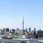 バルコニーから東京スカイツリーが見えます。