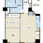 南東南西角部屋。可動間仕切りを利用してスタイリッシュにお住まいいただけるお部屋に仕上がりました。(間取)