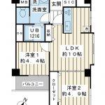 10階建て9階。南東北東角部屋。2020年6月リノベーション完成。