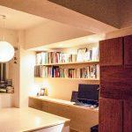 小上がりになっている書斎スペース。(内装)