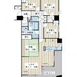 開放的な3方角部屋。95平米超の4LDK。(間取)