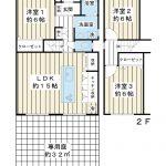 全室6帖以上の3LDK。3つの居室がそれぞれ独立したプライベートが守られた間取りプラン。(間取)