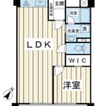 7階建て最上階。43.45㎡の1LDK。2017年12月リノベーション実施。室内きれいにお使いです。(間取)